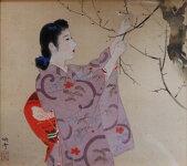 【白鳥映雪】「浄春」日本画(絹本・彩色)6号額装美術日本画【楽天・書画肆しみづ】