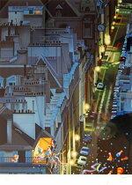 【ヒロヤマガタ】「夜のサンジェルマン通り」版画(シルクスクリーン)6号大限定250部【楽天・書画肆しみづ】