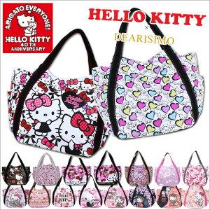 《メール便160円》HELLO KITTY × DEARISIMO ハローキティ トートバッグ キャンバス 大きめ A4 ...