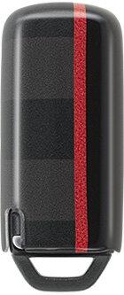 HONDA ホンダ 純正 NONE N-ONE エヌワン キーカバー レッドストライプ 2017.6〜仕様変更 08F44-E6V-0R0D || キーケース スマートキーケース スマートキーカバー リモコン スマートキー カバー キー ケース 車 おしゃれ おすすめ 傷防止 キズ防止