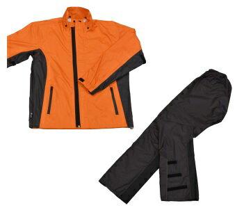 LEAD リード工業 RW-054 スリムレインスーツ オレンジ Mサイズ | バイクウェア レインスーツ レインウェア 上下セット バイク用品 メンズ レディース バイク ウェア パンツ インナー スリム かっこいい 細身 軽量 リード 釣り アウトドア ポイント消化