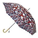 SPICE スパイス SPICE OF LIFE 晴雨兼用日傘 ブロック ネイビー×レッド TULZ1110 | 北欧 デザイン 大きめ 傘 晴 雨 兼用 日傘 おすすめ