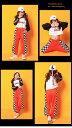 ダンス衣装 キッズ オレンジ 白黒 キッズダンス衣装 セットアップ ヒップホップ レッスン着 ヘソ出しトップス ズボン ガールズ K-POP 韓国 3