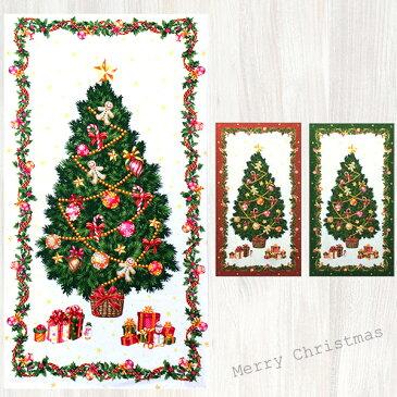 【在庫限り 早い者勝ち!!】【メール便3枚まで】壁に飾る。クリスマスパネルオックス生地(1206)|クリスマス ツリー 飾り ディスプレー パーティー タペストリー 飾り コットン ファブリック
