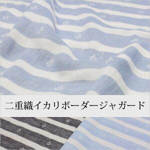 二重織りイカリボーダージャガード生地(9065-1)
