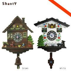 アルプスの小屋イメージ!Shanty (シャンティ): 山小屋型アナログ時計【あす楽対応】