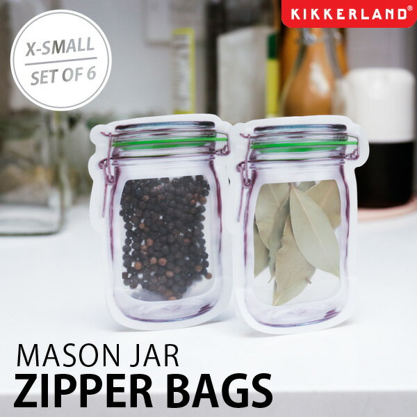 保存容器・調味料入れ, 保存容器・キャニスター KIKKERLANDMASON JAR ZIPPER BAGS 6 XS 60ml 2oz OK