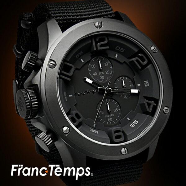 機能性・デザイン性 メンズ腕時計FrancTempsGAVARNIEフランテンプスガヴァルニラバーベルトNATOベルトレディー