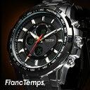【デジタル&アナログ】 メンズ腕時計 FrancTemps ...