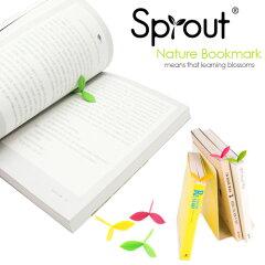 ニョキッと本から芽が生えた!?Sprout bookmark (スプラウトブックマーク) / シリコン製の芽の...