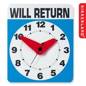 時計としても、看板としても使える!【KIKKERLAND/キッカーランド】WILL RETURN CLOCK 壁掛け...