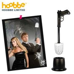 拳銃型のユニークなトイレ掃除ブラシ【hoobbe】WIPE OUT! TOILET BRUSH / ワイプアウト トイレ...