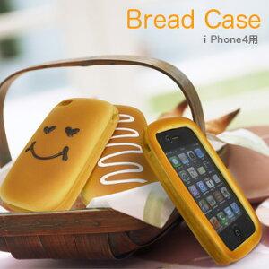 レビュー記入でオマケ付★まるでパン!ふわふわの感触&香り付きのiphone4用ケース おもしろ雑...