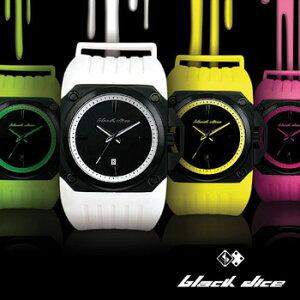カラフルなラバーベルトに重厚なケースがクールなイギリスブランド腕時計ブラックダイス/BLACK ...