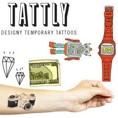 【TATTLY/タトリー】タトゥーシール タトゥリー 文字 ダイヤモンド 輸入雑貨 【メール便OK】 腕時計とおもしろ雑貨のシンシア プレゼント ギフト 【あす楽対応可】