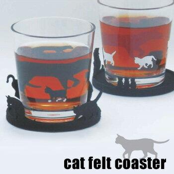 ネコのシルエットがかわいいフェルトコースター