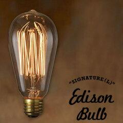 1880年代頃に作られていたエジソン球を復刻した電球SIGNATURE(Sサイズ)Edison Bulb SIGNATURE (...