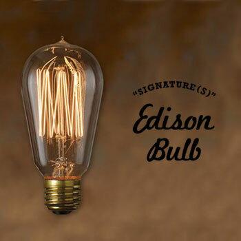Edison Bulb SIGNATURE (Sサイズ) シグネチャー S エジソンバルブ タングステン電球 インテリア 照明 口金E26タイプ 40W 60W 輸入雑貨 おもしろ雑貨のシンシア 天井 部屋 リビング 間接照明 プレゼント 【あす楽対応可】