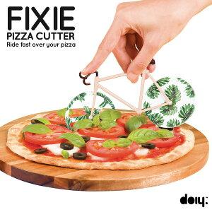 フィックスバイクモチーフのオシャレなピザカッター【doiy.】FIXIE PIZZA CUTTER/フィクシーピ...
