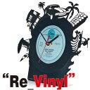 Re Vinyl Table Clockリヴァイナル 置時計 おしゃれ アンティーク Pavel Sidorenkoパヴェル シドレンコ アナログレコード ギフト 腕時計とおもしろ雑貨のシンシア プレゼント