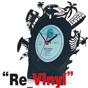 アナログレコードから作成されたおしゃれな置時計!おもしろ雑貨/おもしろグッズ/輸入雑貨/ギフ...