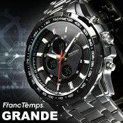 デジタル アナログ おしゃれ フランテンプス グランデ ブランド ランキング カジュアル シンシア プレゼント シルバー ブラック
