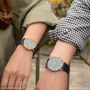 RELAXリラックスNIMESニームペアウォッチメンズレディースデニム40mm36mm腕時計とおもしろ雑貨のシンシアプレゼント