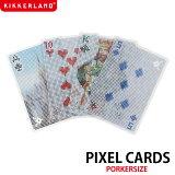 【KIKKERLANDキッカーランド】Pixel Cards ピクセルカード トランプカード 【メール便OK】 腕時計とおもしろ雑貨のシンシア 【あす楽対応可】