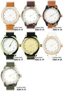 【日本正規代理店】squarestreetMINUTEMANSQ03腕時計ONEHANDAシリーズレザーナイロンベルトメンズレディースユニセックスMen'sうでどけいブランドプレゼントギフト【送料無料】【あす楽_土曜営業】腕時計とおもしろ雑貨のシンシア