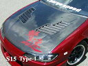 チャージスピード シルビア S13 ボンネット T-1 FRP CHARGESP...