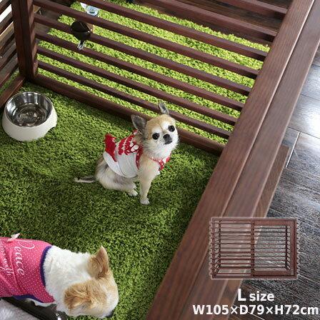 DWm01 M 【犬サークル】 【送料無料】 Plusおしゃれ木製枠・金網ペット/ Simply 犬ケージ