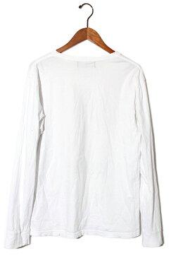 ALDIES アールディーズ Ceora Long T イラスト プリント ロングスリーブTシャツ M white オールシーズン /◆ メンズ 【中古】【ベクトル 古着】 180313 ベクトル 新都リユース