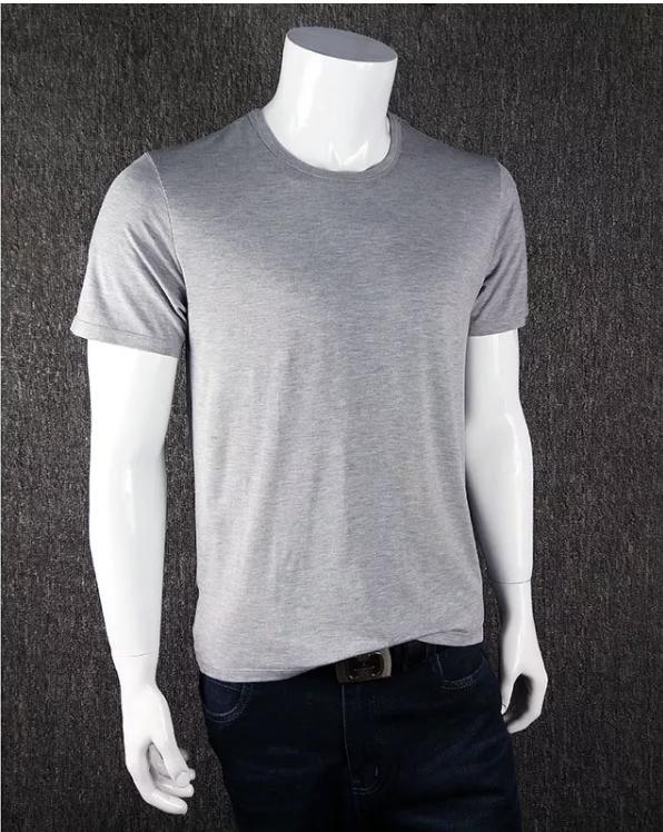 シオンコーベ『竹繊維V字ネッククルーネックTシャツ無地』
