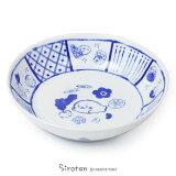 しろたん 和柄大皿《単品》和食器 深皿 日本製 プレート マザーガーデン