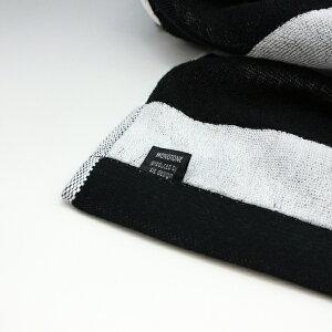 【白黒】ボーダーバスタオル