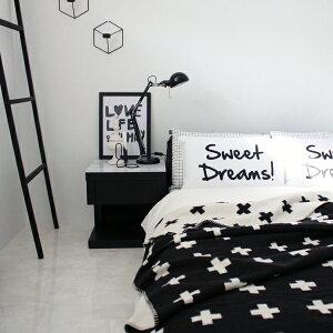 【白黒】SWEETDREAMS!パイルピローカバー白