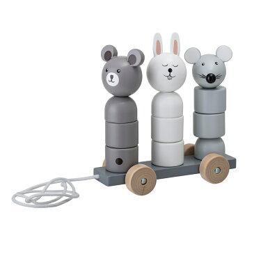 北欧 おもちゃ【Bloomingville】木製 どうぶつの引っ張るおもちゃ / ブルーミングヴィル 北欧 デンマーク