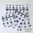 【ランドリーネット】アルファベット ランドリーネット 角型3枚セット
