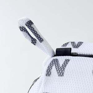 【白黒】アルファベットランドリーネット筒型