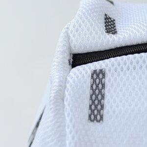 【白黒】アルファベットランドリーネット筒型Mサイズ