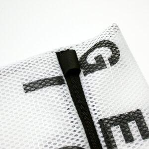 【白黒】アルファベットランドリーネット角型3枚セット