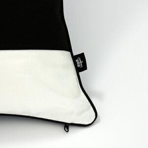 【白黒】ボーダークッションカバー