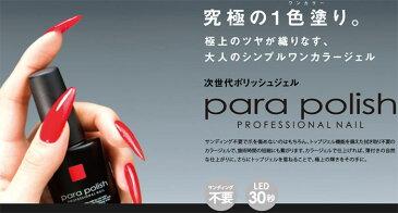 para polish パラポリッシュ ハイブリッドカラージェル V2 レッド 7g ソフトジェルネイル ボトル タイプ