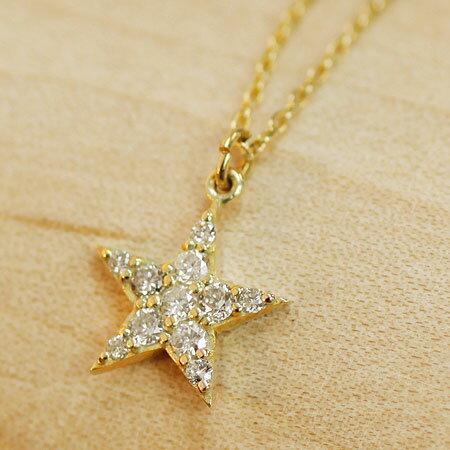 K10 K18 スター 星 ダイヤモンド パヴェネックレス ネックレス ペンダント   ジュエリー システィーナ リリコ 大人 天然石 結婚 結婚式 贈り物 送料無料