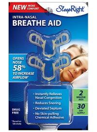 ナーザルブリーズエイド 2個入り NasalBreatheAid 米国製 SleepRight いびきグッズ 鼻呼吸 いびき対策 イビキ 鼻腔拡張 鼻腔拡張グッズ 送料無料 保管ケース付き