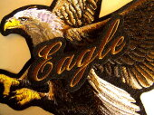 大きな鷹ワッペン&文字セット