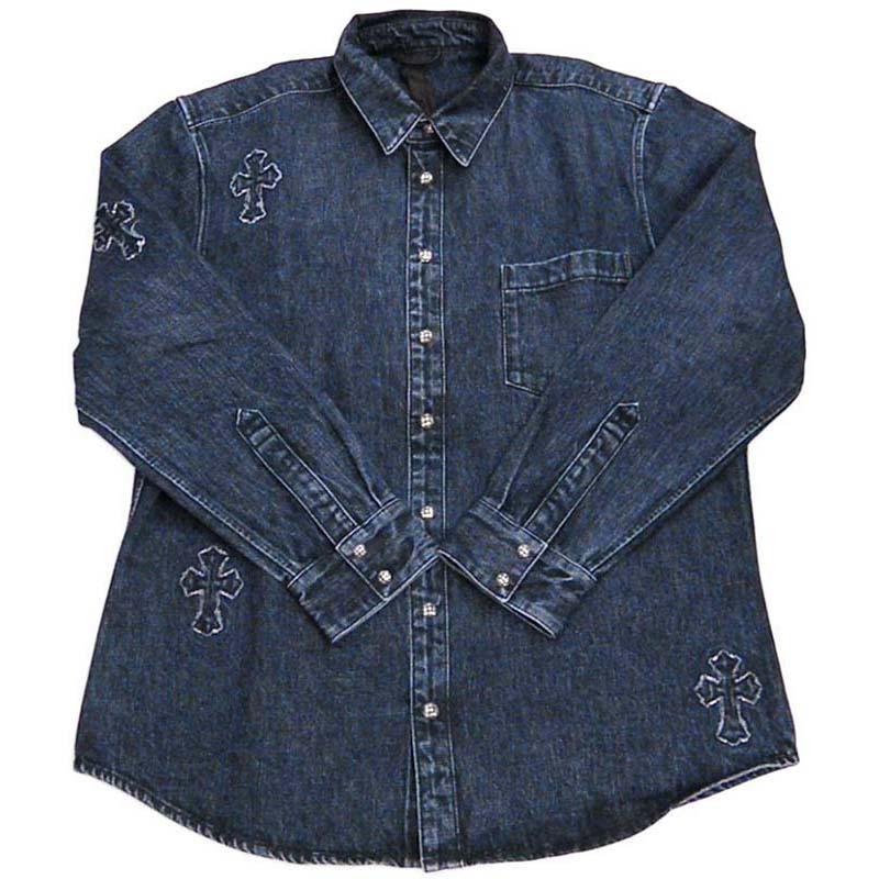 トップス, カジュアルシャツ  CHROME HEARTS LOOSEEND DNM VJ XL
