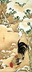 おしゃれ ふすま紙 伊藤若冲8 デザイン襖紙(襖/ふすま/鳥の子/和紙/オシャレ/和風/和柄/張替/通販)