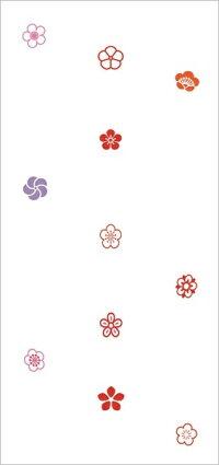 おしゃれなデザイン障子紙みやび(花小紋1)(障子/しょうじ紙/カラー/柄/模様/モダン/オシャレ/張替/通販)