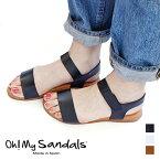 Oh! My Sandals(オー マイ サンダルズ)サンダル [全3色](スポサン スポーツサンダル サンダル ぺたんこ フラット 上品 レザー 本革 牛革 ナチュラル 大人かわいい 楽ちん レディース ギフト プレゼント スペイン)